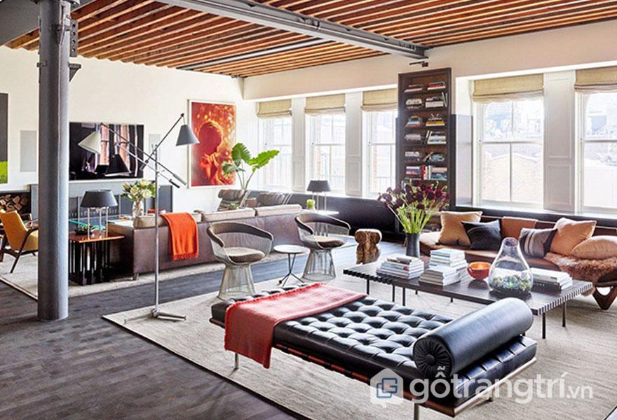 Phong cách thiết kế nội thất công nghiệp khuấy đảo thị trường 2019 (Ảnh: Internet)