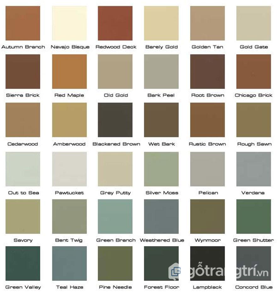 Chọn màu sắc mộc (Ảnh: Internet)