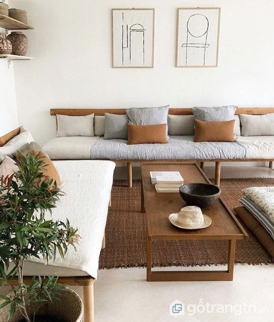 Phòng khách tối giản (Ảnh: Internet)