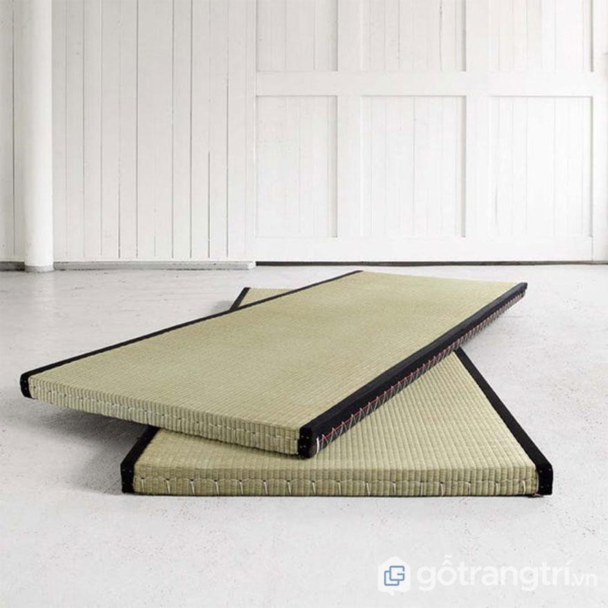 Giường trải chiếu tatami (Ảnh: Internet)