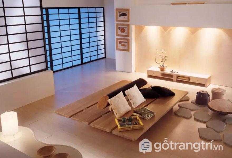 Cách biến tấu phong cách zen trong thiết kế nội thất khá độc đáo (Ảnh: Internet)