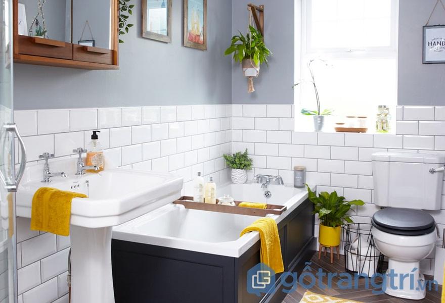 Đặt cây cảnh trong nhà vệ sinh giúp loại bỏ các ám khí - ảnh internet