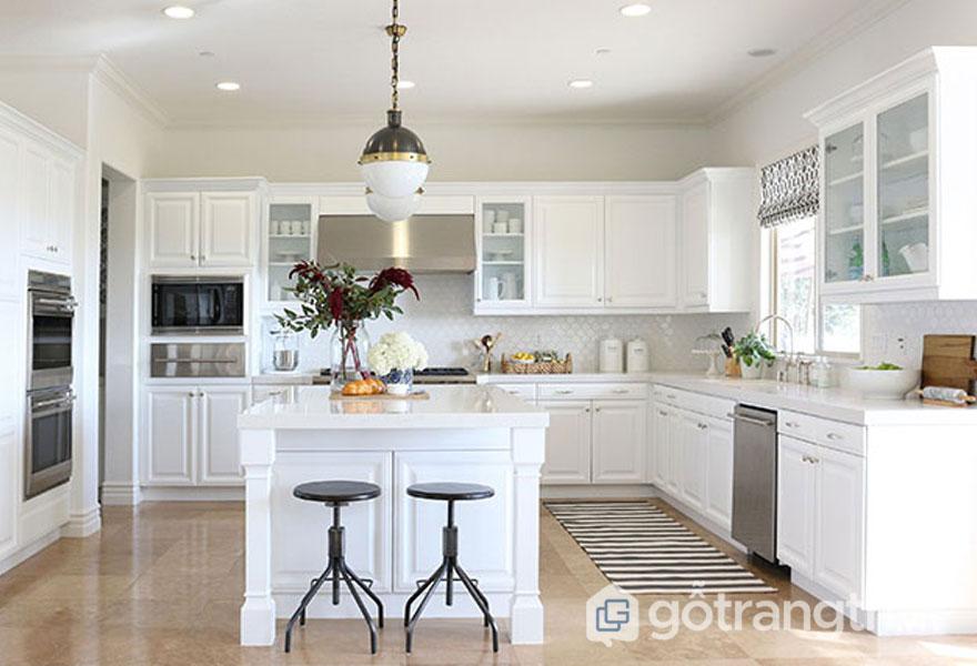 Thiết kế nội thất phòng bếp tân cổ điển (Ảnh: Internet)