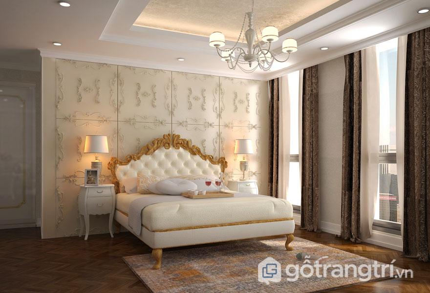 Phòng ngủ master ấm cúng, sang trọng (Ảnh: Internet)