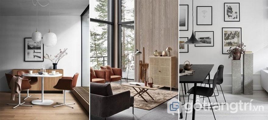 Sử dụng 2 tông màu đối lập khiến không gian nội thất trở nên thanh lịch, sáng nhẹ hơn (Ảnh: Internet)