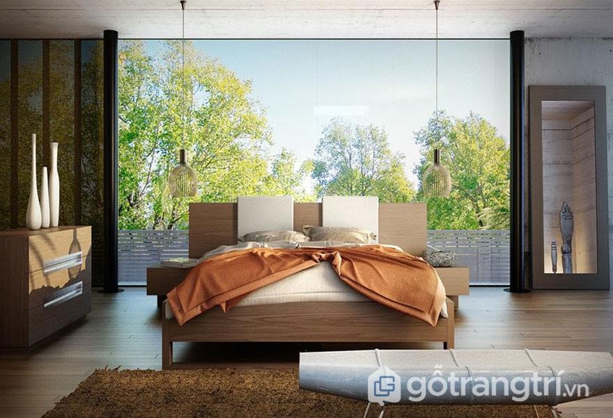 Phòng ngủ phong cách Nhật Bản gần gũi thiên nhiên (Ảnh: Internet)