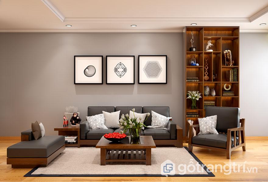 Mẫu phòng khách hiện đại được trang trí nội thất phong cách Nhật Bản (Ảnh: Internet)