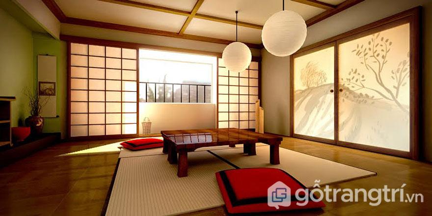 Phòng khách Nhật Bản mang phong cách tối giản (Ảnh: Internet)