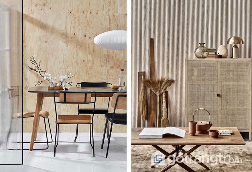 Trang trí đồ nội thất đặc trưng giữa 2 phong cách (Ảnh: Internet)