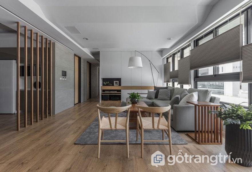 Những đồ nội thất gỗ mang phong cách Nhật Bản hay được dùng để trang trí trong phòng khách Bắc Âu (Ảnh: Internet)