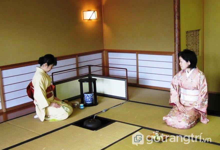 Chiếu tatami dùng để trải thảm cho ngôi nhà (Ảnh: Internet)