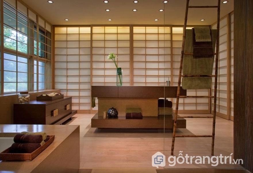 Vật liệu gỗ luôn xuất hiện trong ngôi nhà Nhật Bản (Ảnh: Internet)