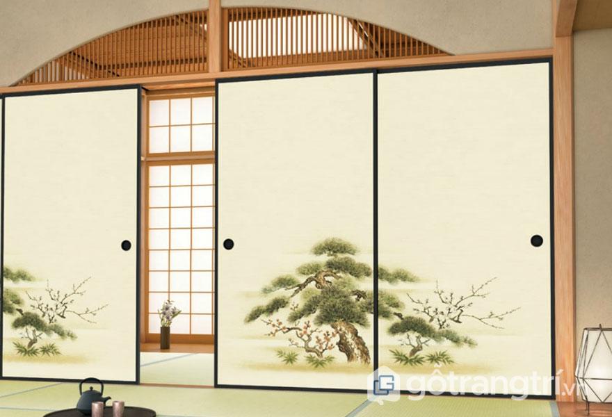 Cửa trượt Nhật Bản Fusuma (Ảnh: japanese-tradition.com)