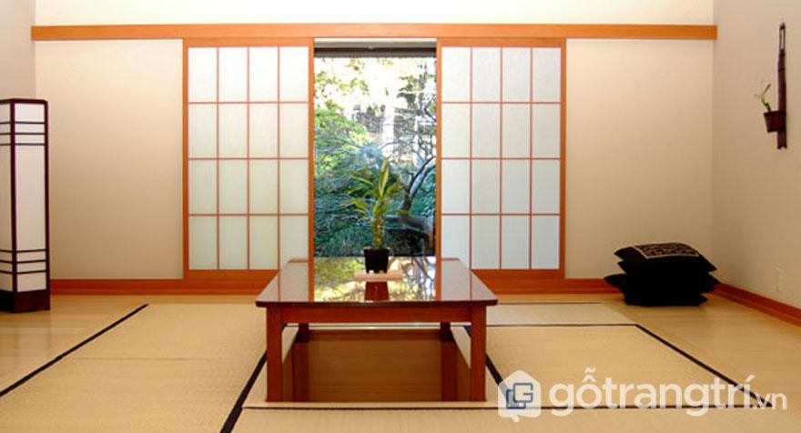 Cánh cửa trượt shoji đưa thiên nhiên vào trong ngôi nhà (Ảnh: Internet)