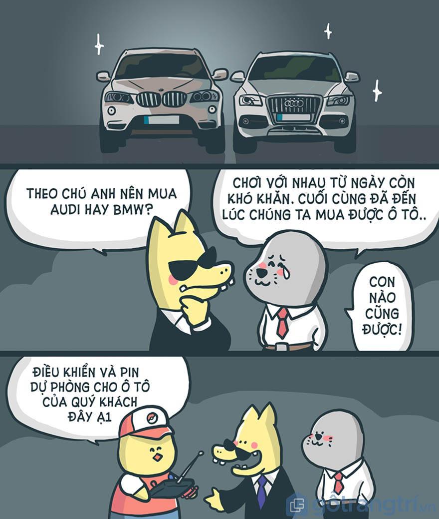 Anh em hoạn nạn có nhau rồi cùng đến ngày mua Audi và BMW về chơi cùng nhau!