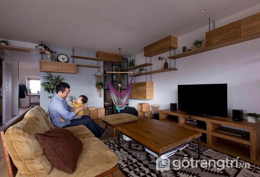 Không gian sống yên bình, gần gũi với nguyên liệu từ gỗ (Ảnh: Internet)