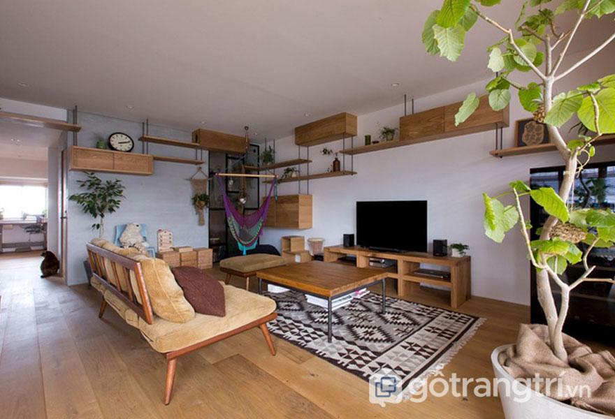 Phòng khách ấm cúng (Ảnh: Internet)