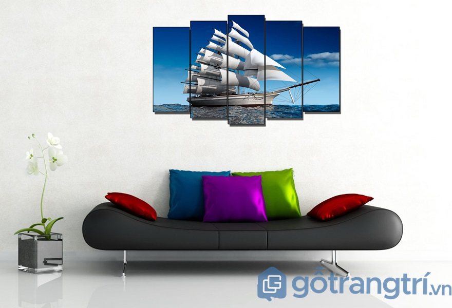 Tranh phong thủy trang trí nội thất phòng khách - ảnh internet