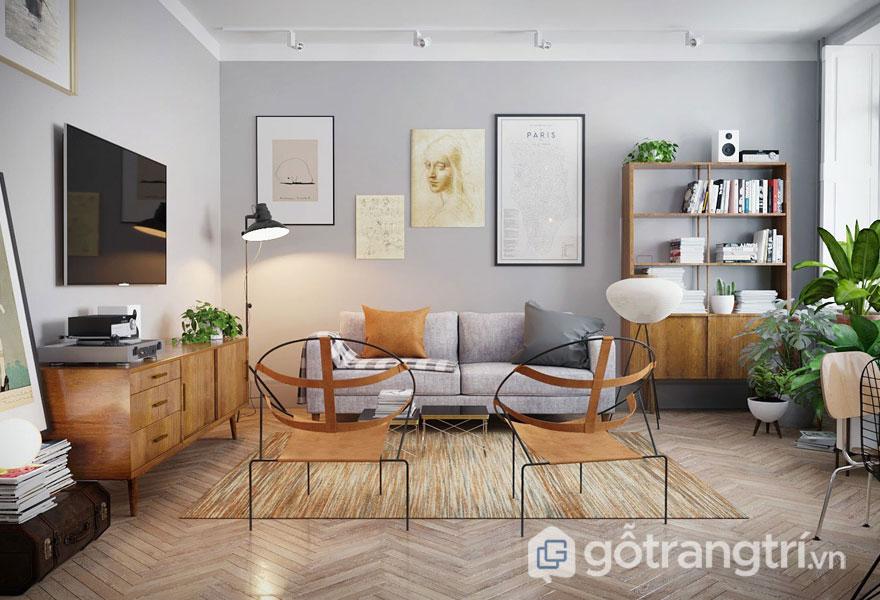 Phòng khách dành cho những người đam mê sách (Ảnh: Internet)