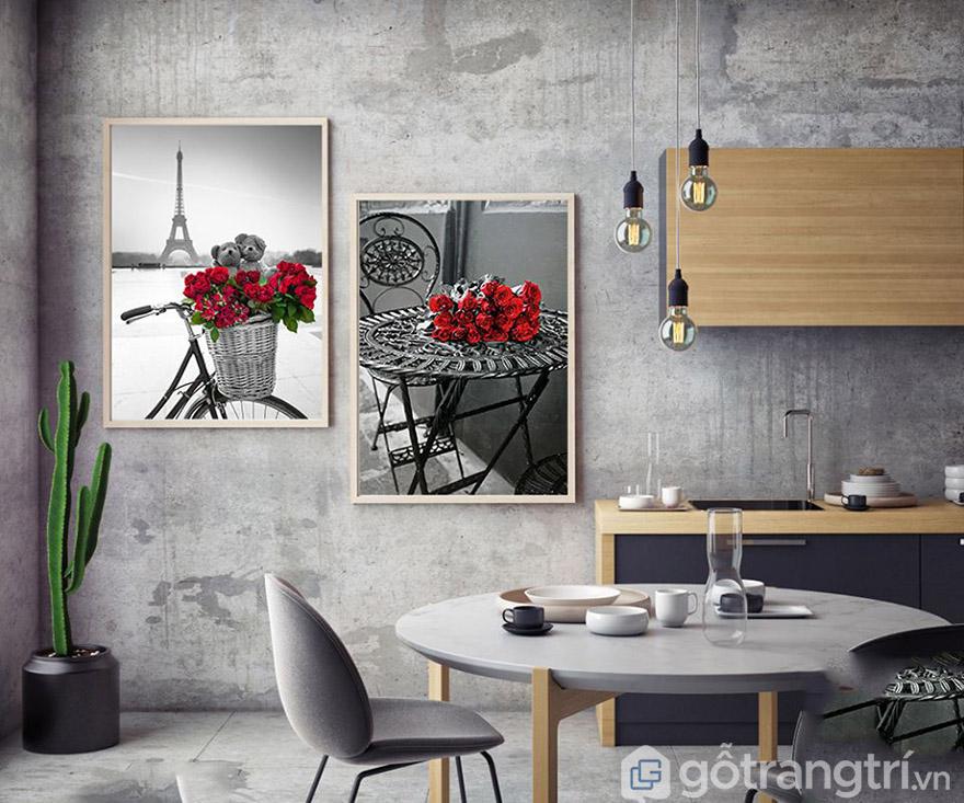 Sự ăn ý giữa tranh nghệ thuật với nội thất tạo nên điểm nhấn đẹp bất ngờ.
