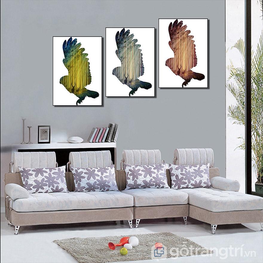 Phòng khách hiện đại hơn, sang trọng hơn với tranh Canvas nghệ thuật.