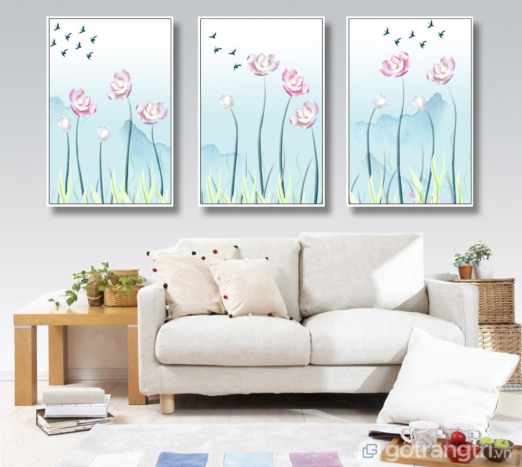 Màu sắc nhẹ nhàng của tranh Canvas có thể giúp giải tỏa căng thẳng.