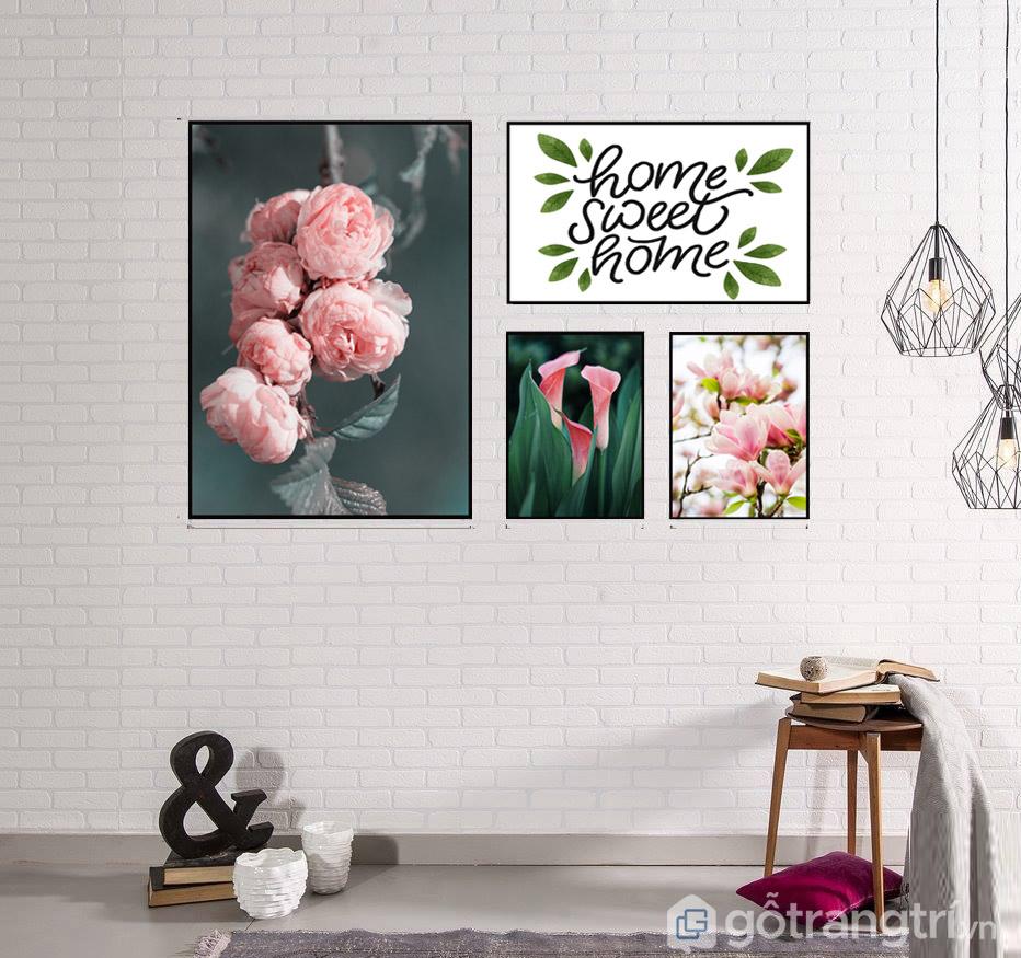 sử dụng tranh Canvas phòng khách đúng cách sẽ tạo nên không gian thoáng, rộng hơn.