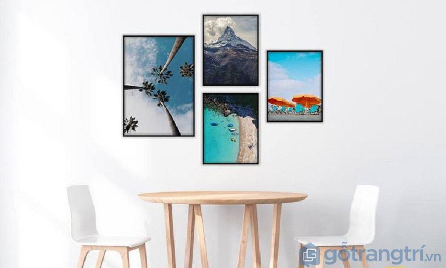 Với không gian quá trống cũng có thể dùng tranh Canvas để tạo điểm nhấn.