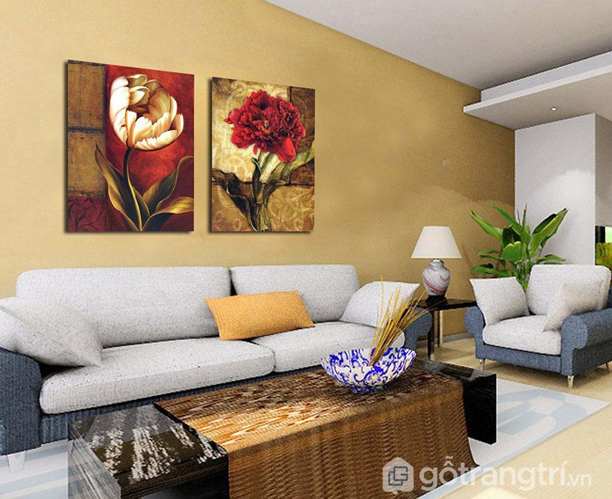 Chọn lựa tranh nghệ thuật cần phù hợp với nội thất.