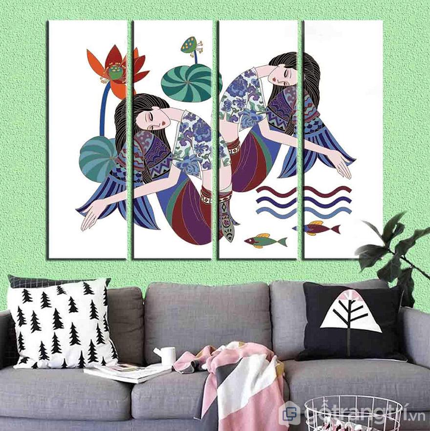 Mỗi bức tranh lạ mang sắc thái, màu sắc và tạo điểm nhấn riêng cho không gian gia đình bạn.