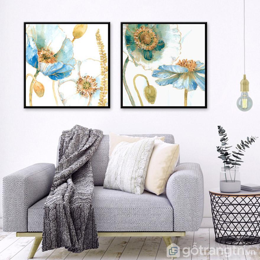 Không cần quá cầu kỳ cho một bức tranh nghệ thuật đẹp treo phòng khách.