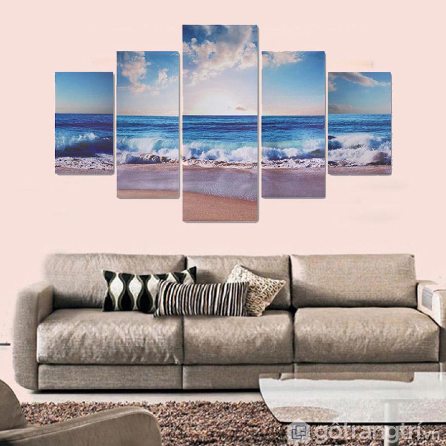 Tranh nghệ thuật hiện đại có rất nhiều màu sắc và kích thước cho bạn lựa chọn.