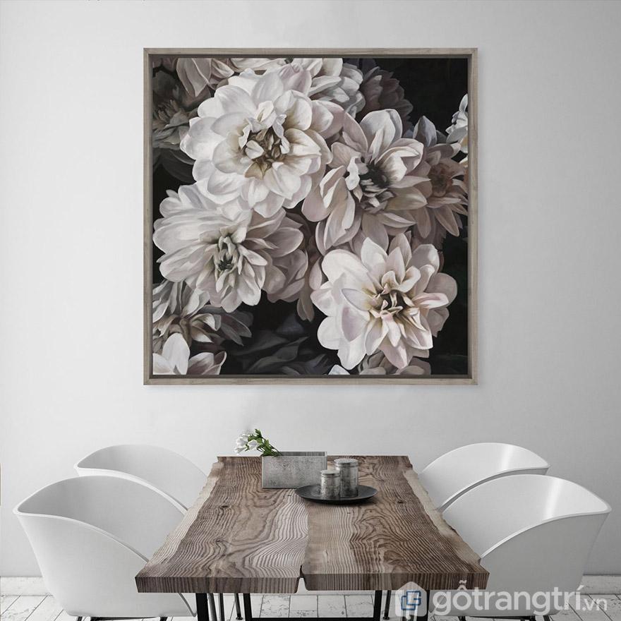 Hoa cũng là một chủ đề của tranh nghệ thuật hiện đại được yêu thích.