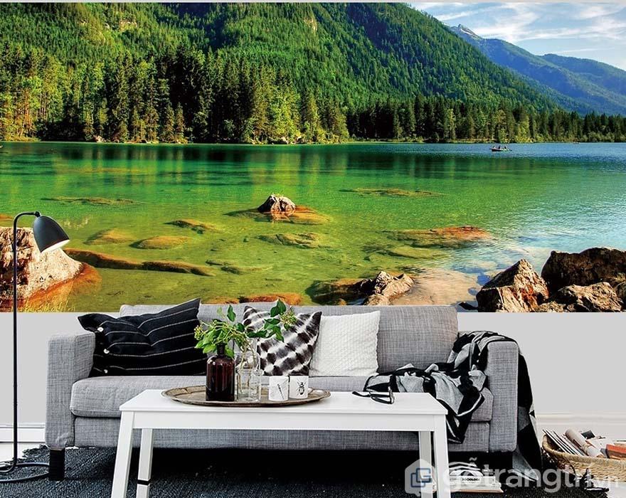 Tranh phong cảnh là tranh vẽ về không gian rộng lớn, tạo điểm nhấn đặc biệt cho không gian.