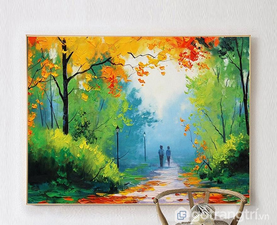 Có nhiều bức tranh sơn dầu về phong cảnh cũng đáng để bạn chọn lựa.