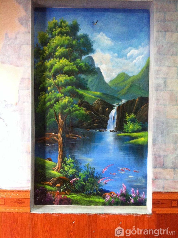 Những họa sỹ sẽ giúp bạn vẽ tranh tường phong cảnh tạo nên những tác phẩm nghệ thuật tuyệt vời cho phòng khách.