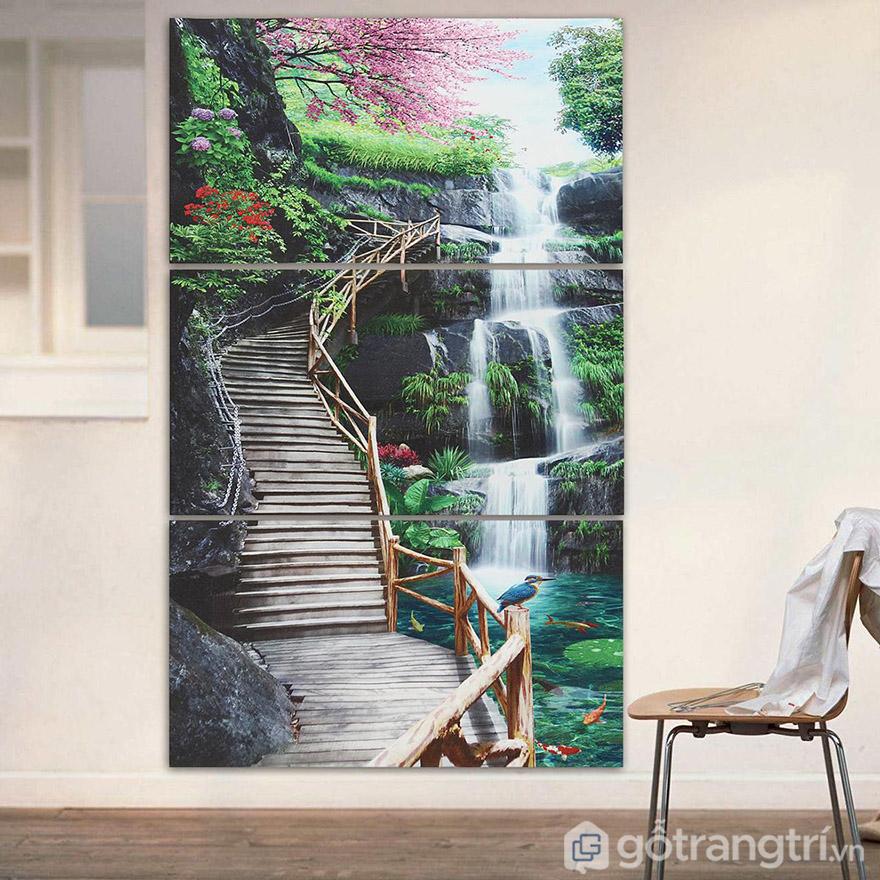 Tranh ốp tường phong cảnh mang đến góc nhìn chân thực và đẹp mắt.