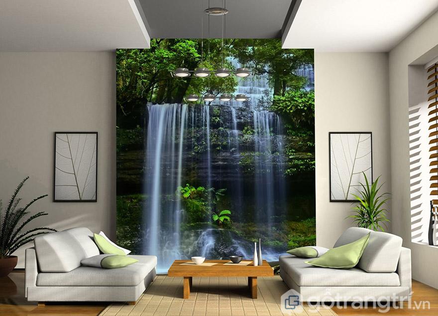 Những bức tranh tường phong cảnh luôn tạo nên không gian rất sáng tạo, gần gũi với thiên nhiên.