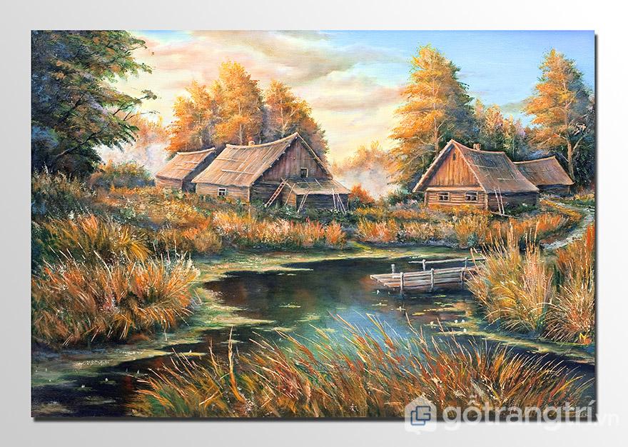 Tranh sơn dầu phong cảnh thể hiện được những cảnh sắc mà bạn chưa từng đặt chân tới.