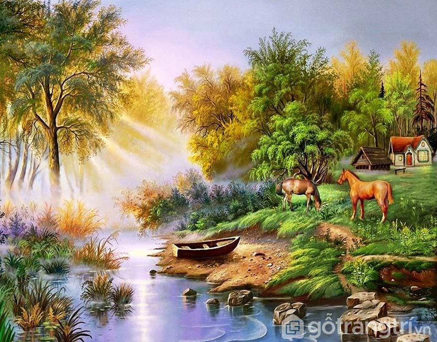 Lựa chọn tranh phong cảnh luôn tạo sức sống và sự mới lạ.