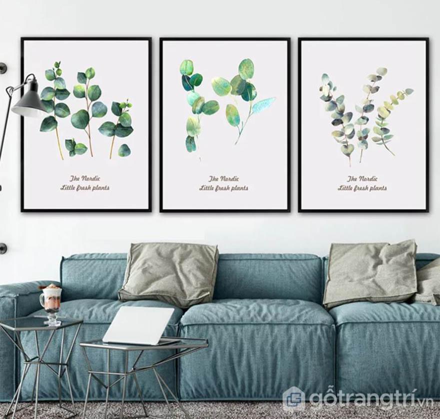 Chọn tranh cần chú ý đến màu của nội thất để tạo nên sự kết hợp hoàn hảo nhất.