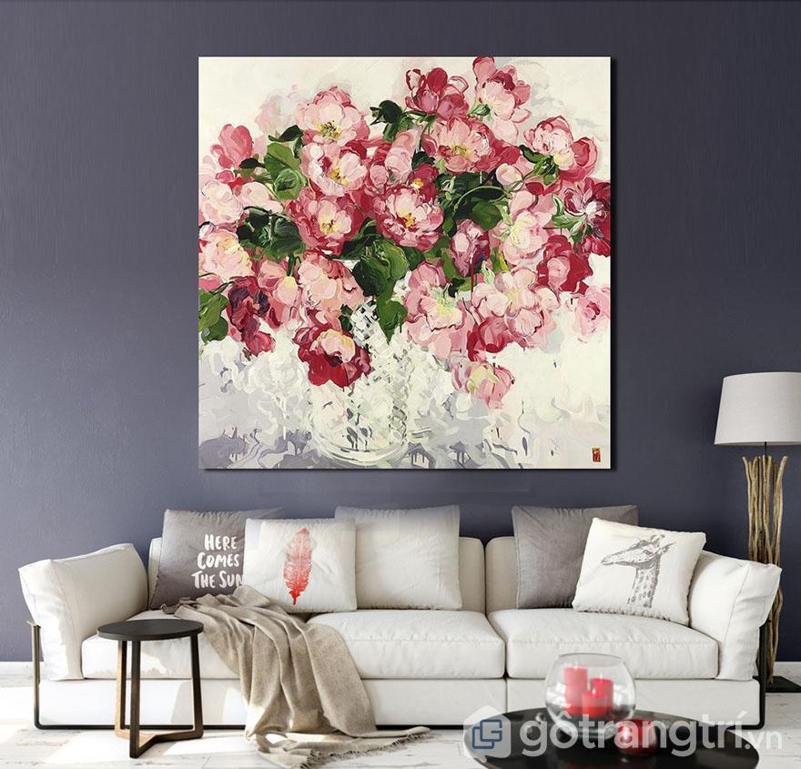 Tranh phòng khách cần có màu sắc tươi sáng, đầy sức sống