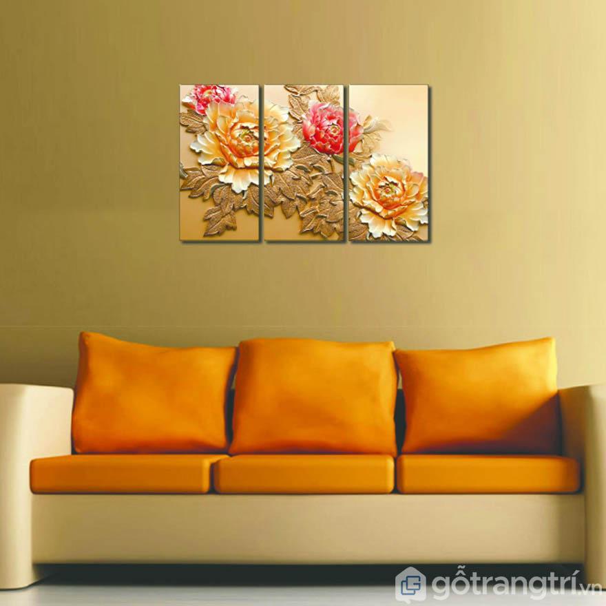 Đơn giản nhưng đầy tinh tế, mang đến vẻ đẹp sang trọng cho không gian phòng khách.