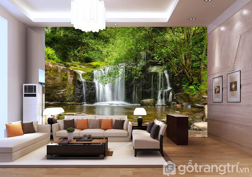 Sáng tạo không gian xanh thoáng mát cho phòng khách đẹp miễn chê
