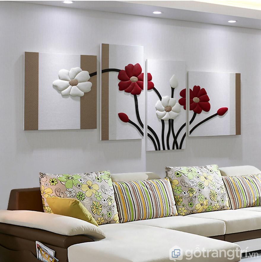 Tranh ốp tường luôn mang vẻ đẹp sang trọng và tinh tế