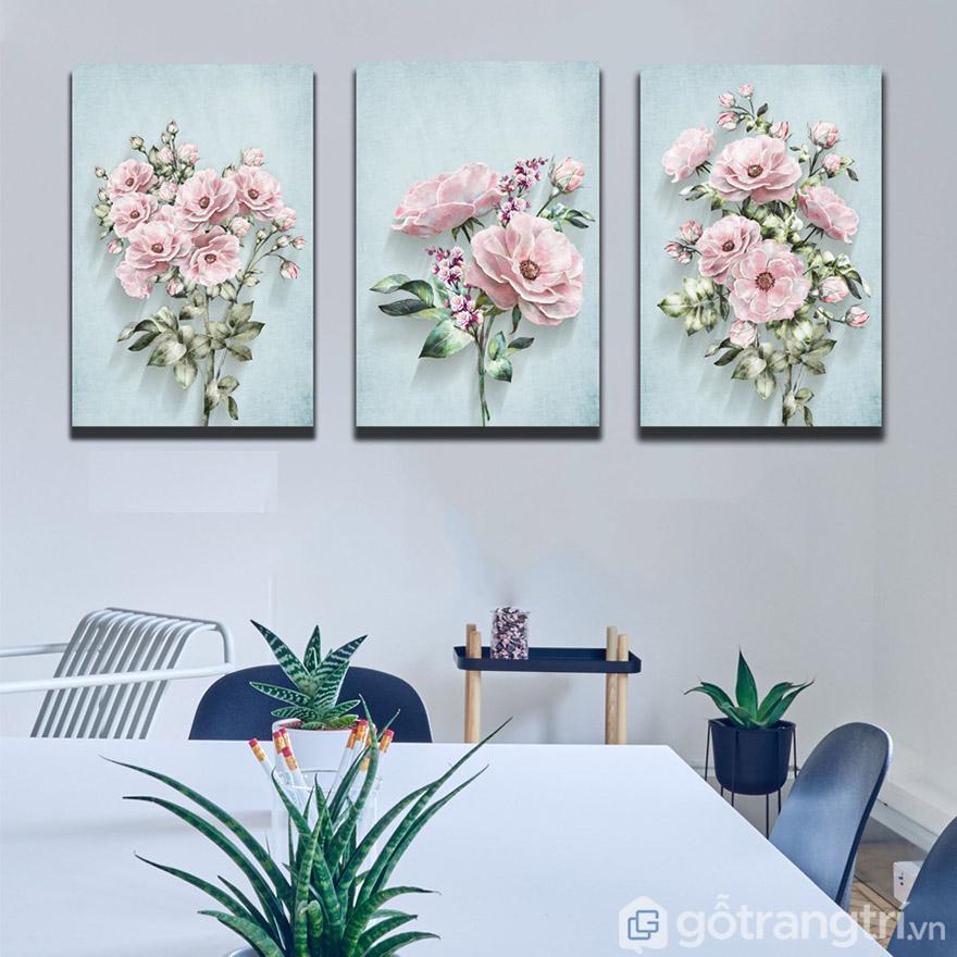 Xu hướng chọn tranh nghệ thuật có chủ đề hoa cỏ, cây cối chưa có dấu hiệu dừng lại.