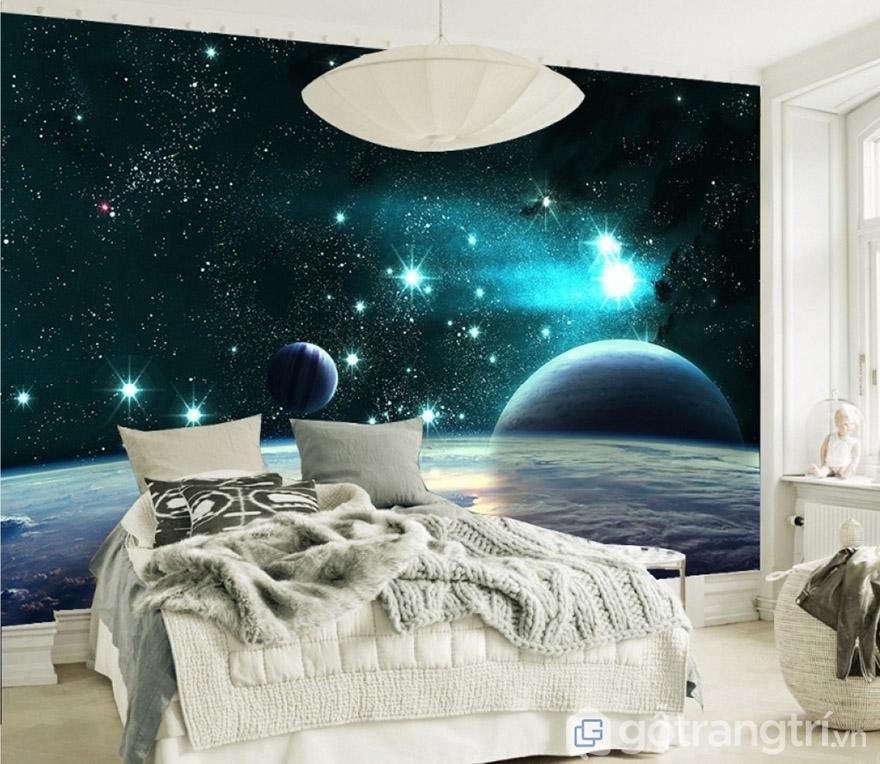 Tranh dán tường nghệ thuật tạo sự sáng tạo cho mọi không gian.