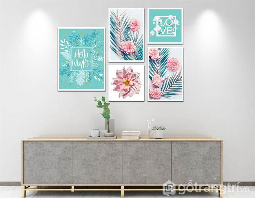 Màu xanh dương rất hợp với nội thất hiện đại, có thể kết hợp với sofa, kệ gỗ kệ tivi.