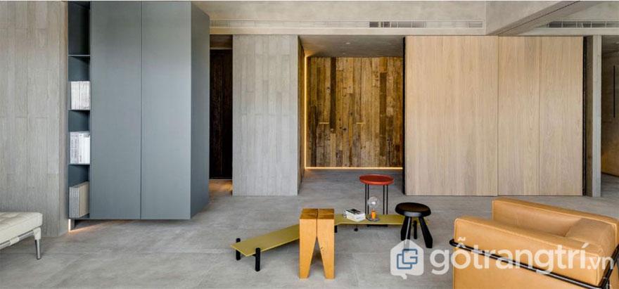 Không gian căn nhà được bài trí theo phong cách wabi sabi style (Ảnh: Internet)