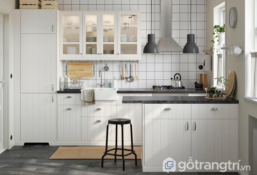 Bếp nấu nên được đặt trong góc nhà, tựa vào tường - ảnh internet